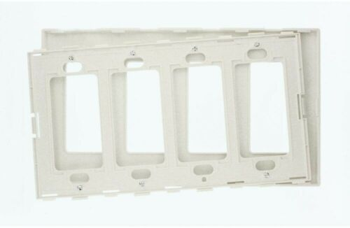 Leviton Wall Plate Switch 4 Gang Decora Screwless Electrical Plastic White Home