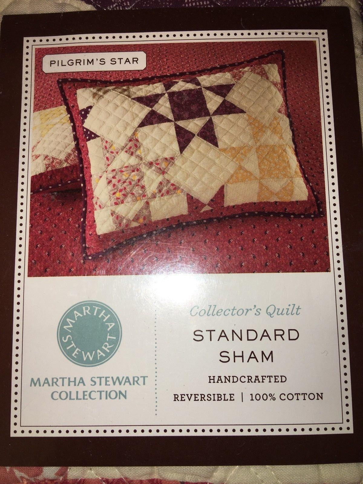New Martha Stewart Pligrim S Star Quilted Standard Sham Collector S Pattern For Sale Online