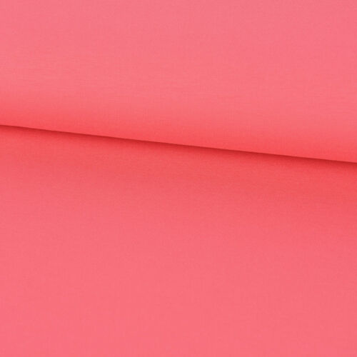 Jersey French Terry uni ROSE CORAIL largeur 1,60 m