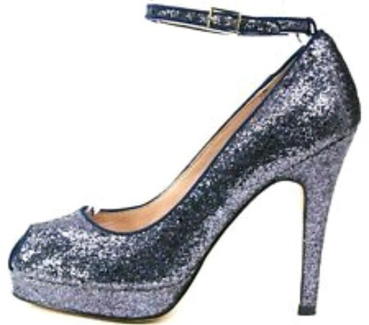 Designer Reiss Glitter peeptoe tacchi -- taglia 37 UK4 -- -- tacchi Nuovo di Zecca Festa Di Nozze e86ab7