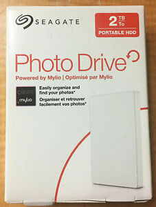 Seagate Portable HDD Photo Drive 2TB, White, Powered by Mylio - USA