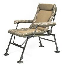 Nash Indulgence Big Daddy Camo Special Arm Chair NEW Carp Fishing T9752