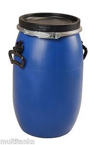 bidon 30 litres 30l jerrycan fut baril plastique alimentaire ouverture totale ebay. Black Bedroom Furniture Sets. Home Design Ideas