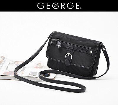 George Black Casual Vintage Crossbody Shoulder Tote Purse Messenger Bag
