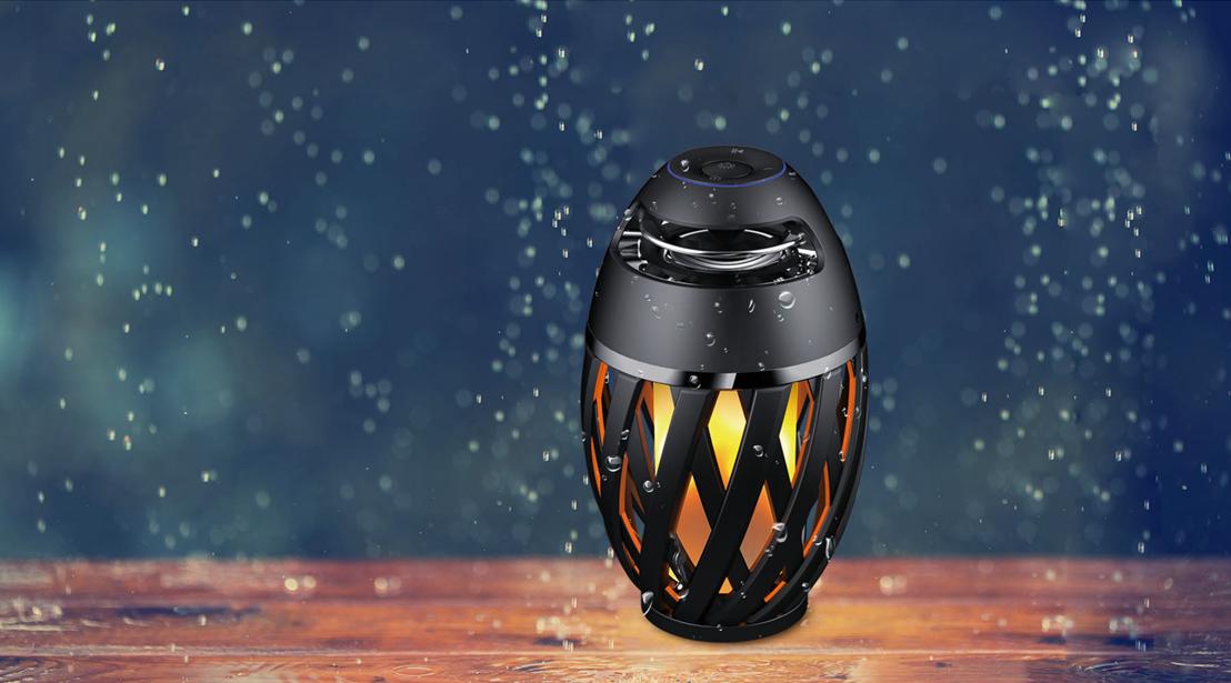 vendite dirette della fabbrica Fiamma LED Lampada con con con senza altoparlanti blutooth Lampada da Giardino Impermeabile ip65  spedizione veloce in tutto il mondo