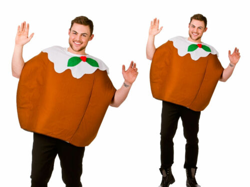 Christmas Pudding Costume Adults Comedy Xmas Novelty Fancy Dress Outfit