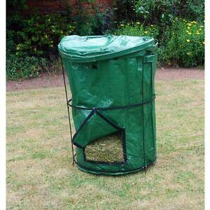 Portabel Große Offene Kompost Tasche mit Klappe Kompostierung Kasten NEU