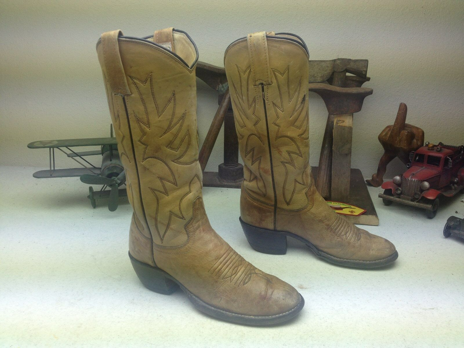 USA ADAMS AMBER AMBER AMBER DISTRESSED LEATHER ENGINEER ROCKABILLY RANCH WORK BOOTS 5.5 B 6478be