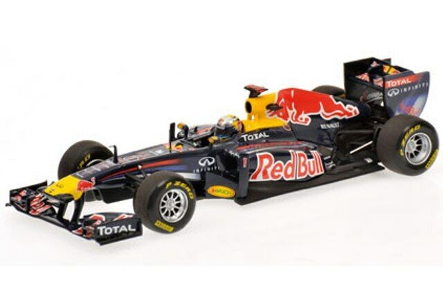 MINICHAMPS 110 100005 100105 110001 RED BULL F1 model cars S Vettel 2010 11 1 18