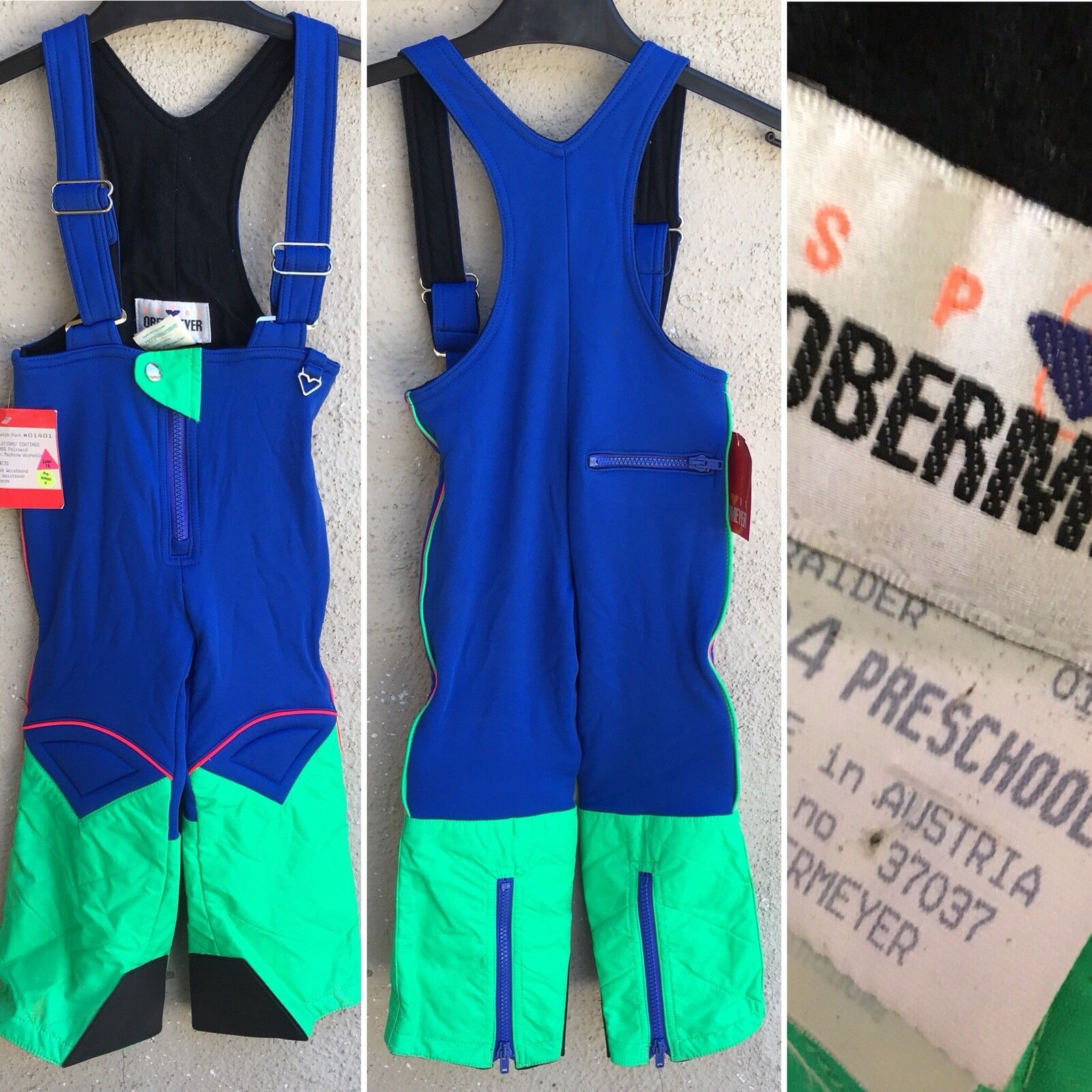 Vintage Obermeyer Sport Raider Stretch Pants Ski Bib Snow 04  Preschool 80s Kids  cheap and top quality