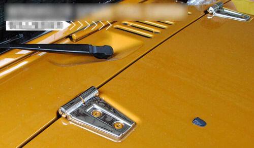 fit for 2007-2018 Jeep Wrangler JK 2//4dr ABS Chrome Engine Hood Hinge Cover Trim