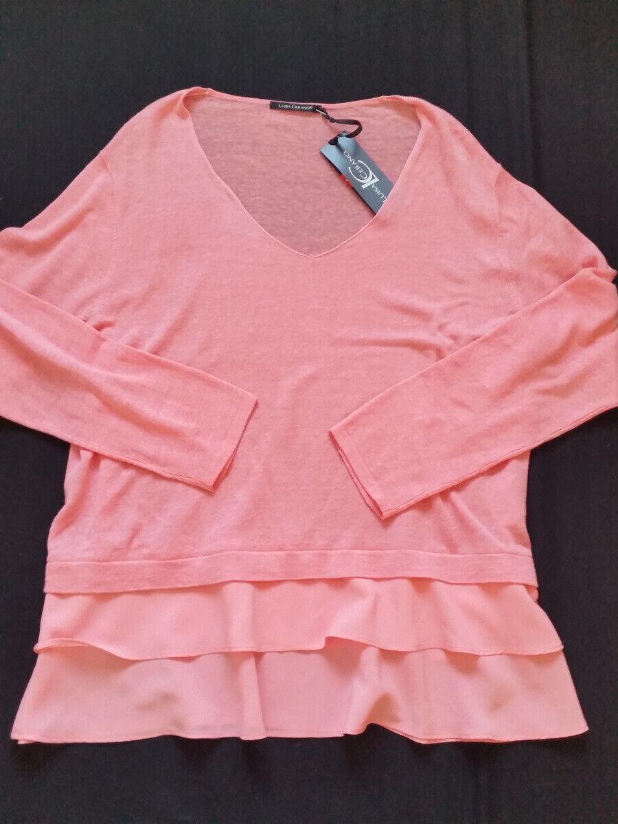 Luisa Cerano suéter lino con volant  Candy talla 44 46 -- uk18 PVP euro 229,9  nuevo  salida para la venta