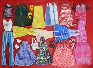 Barbie Mattel Fashionista Curvy Petit Dresses Bags Shoes Doll Clothes Bundle Ebay
