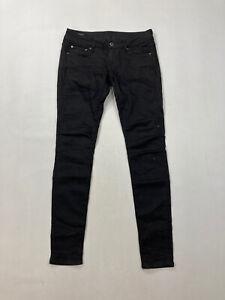 G-Star-Raw-3301-Low-Super-Skinny-Jeans-w27-l30-schwarz-super-Zustand-Damen