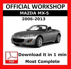 official workshop manual service repair mazda mx 5 2006 2013 rh ebay co uk 2006 mx 5 owners manual 2006 MX-5 Accessories