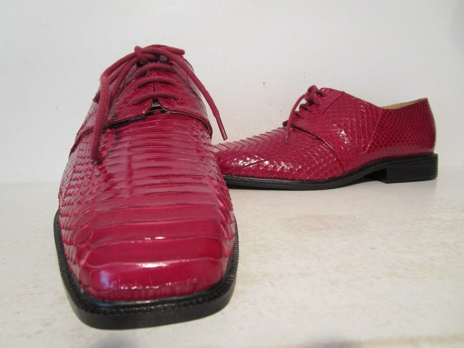 Giorgio Brutini Mens Slaton 15522 Genuine Snakeskin Oxford shoes Red Size 8 12 M