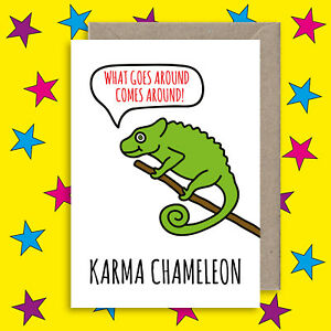 Funny Karma Quote Card Anniversary Congratulations Yoga