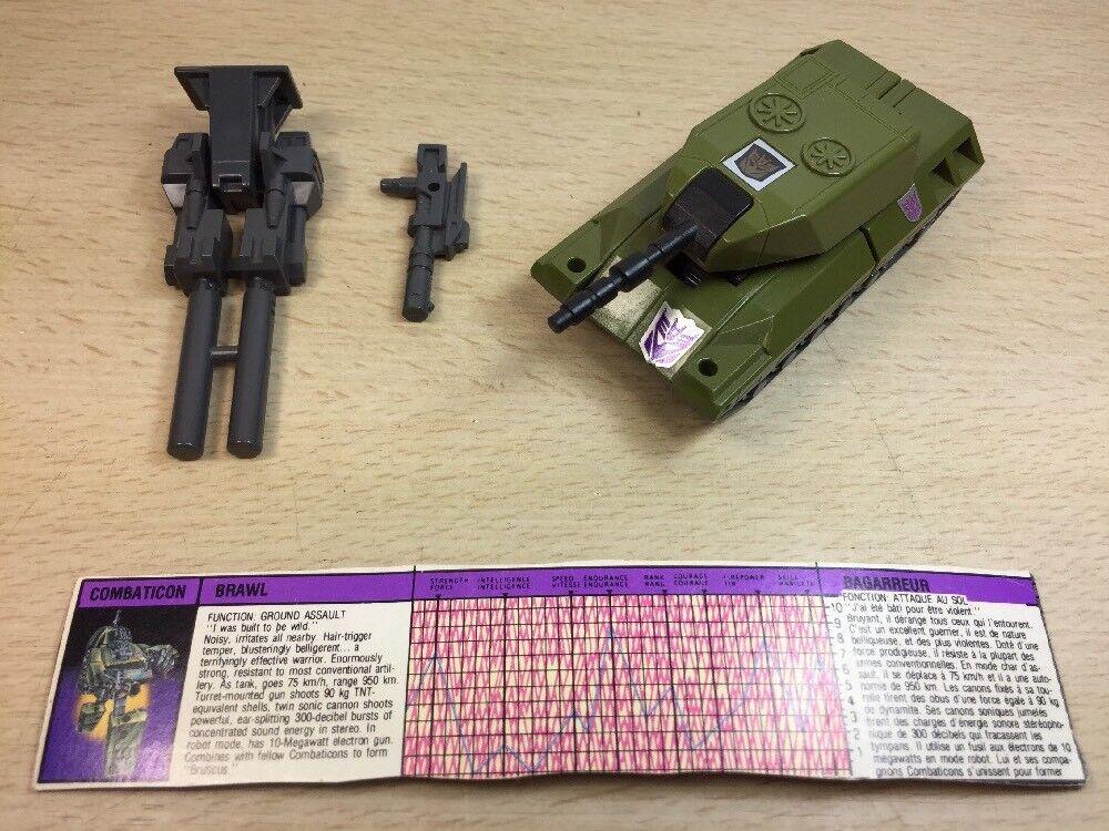 Transformers Original G1 1986 Combaticon Brawl Complete w  Card Loose