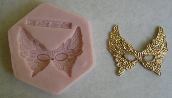 Venetian Mask Silicone Mold  for Cake Decorating, Sugar Flower, Fondant