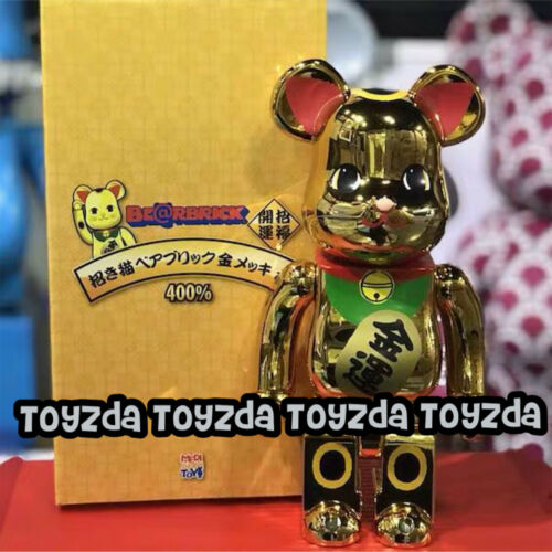 Sky Tree Manekineko Lucky Cat Neko Gold Plated Ver 6 Be@rbrick Bearbrick 400/% 1p
