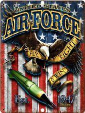 Marina de Estados Unidos USA reclutamiento Mundo VINTAGE retro militar Letrero De Metal 9x12