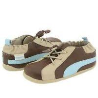 Nip Robeez Shoes Tredz Evan 3 Lace Brown Blue 12-16m 4 5