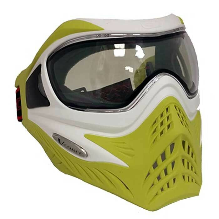 VForce Grill Paintball Thermal Maske Limited - White on Lime