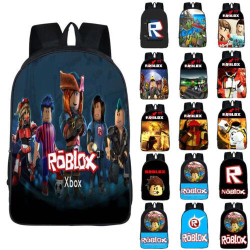 Roblox Backpack Kids School Bag Students Boy Handbags Travelbag Shoulder Bags