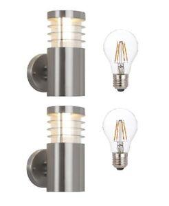 Jetzt zugreifen: 2er Set BT3413S A UP Edelstahl Aussenleuchte inkl. Leuchtmittel