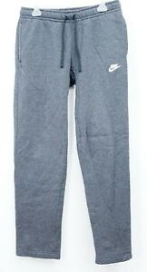 Nike-NSW-Club-Oh-Polaire-Pantalons-Fonce-Gris-Bruyere-Ourlet-Ouvert-Homme-Size-S