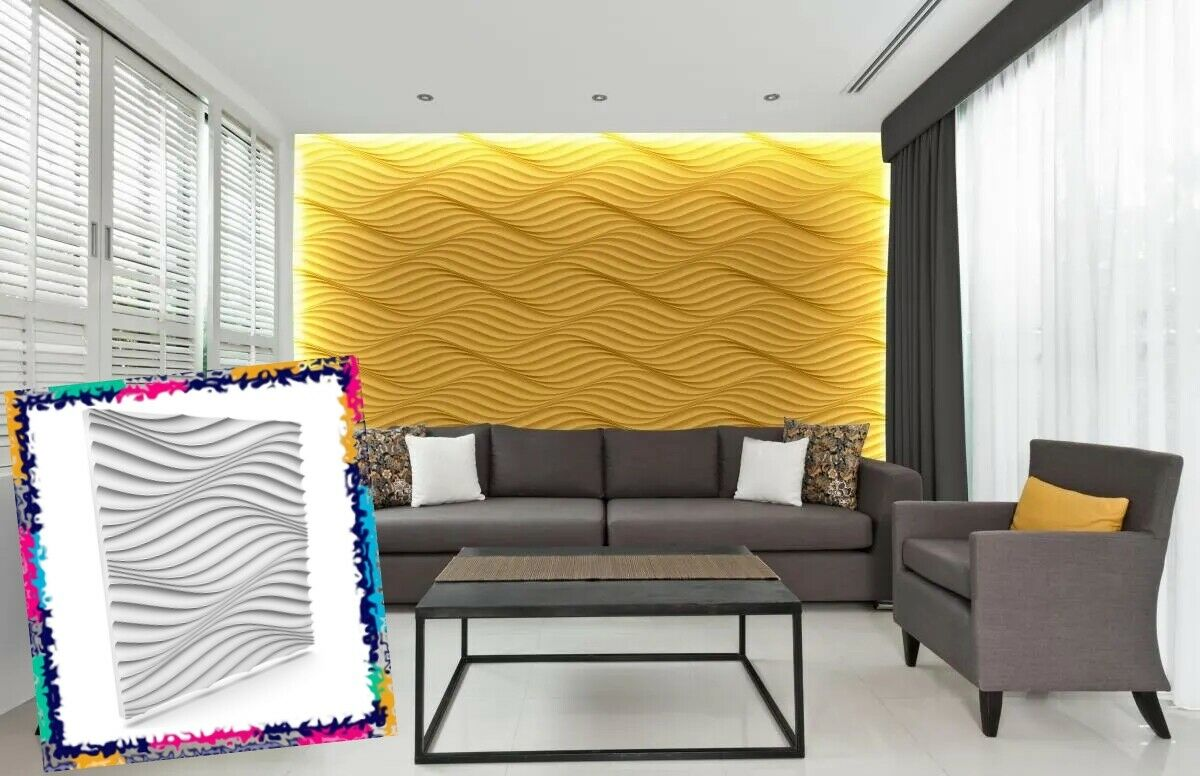 Luxury 3D Wall Ceiling Panel WIND 60 x 60 Decorative Cladding Wallpaper Tile