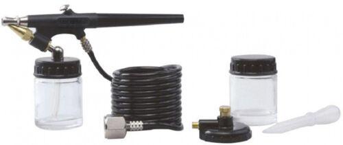 NPT Inlet Oil Water Based Paints Adjustable Spray Pattern Air Brush Kit 1//4 in