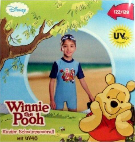 Disney Kinder Schwimmoverall Winnie Pooh Tigger blau UV 40 Sonnenschutz NEU OVP