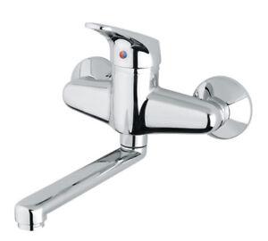 Miscelatore rubinetto monocomando lavello cucina a muro - Rubinetto a muro cucina ...