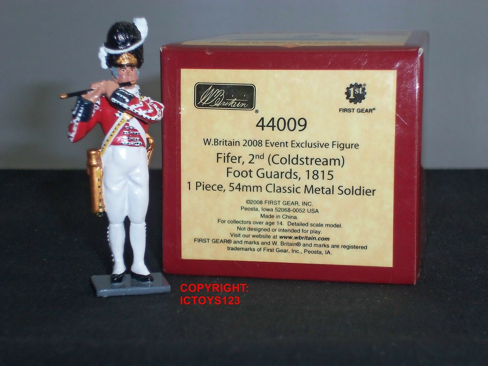 BRITAINS 44009 REDCOATS 2008 EVENT FIGURE BRITISH COLDSTREAM GUARDS FIFE PLAYER
