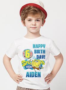 Image Is Loading Spongebob Squarepants Shirt Birthday Custom Name And