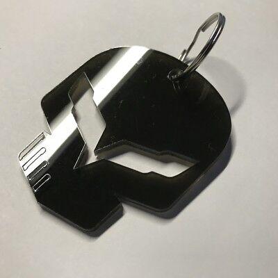 Chevrolet Corvette C5 Flag Key Chain Fob Satin Black /& Silver USA