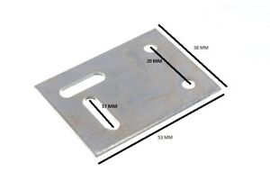 53 mm x 38 mm civière Réparation Support plaque 2 trous 2 s/pack OFS Pack de 10