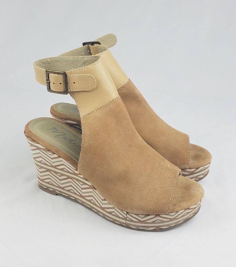 Matisse Harlekin Damen 9 Wildleder Knöchelriemen Keilabsatz Sandalen
