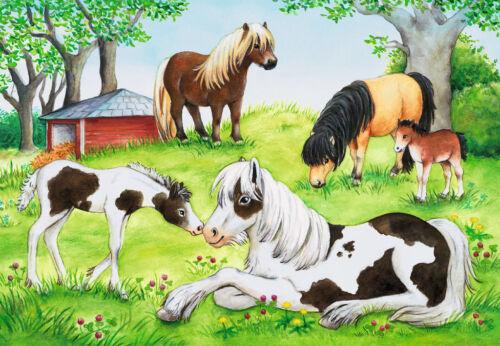 2 x 24 Teile Ravensburger Kinder Puzzle Welt der Pferde 08882