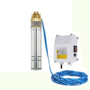 Pompa-Sommersa-per-pozzi-4-034-750W-1HP-turbina-in-ottone-elettropompa-2700LT-h