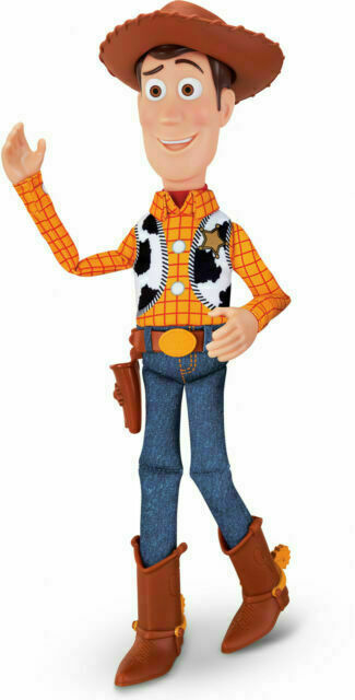 64452 for sale online Disney Pixar Toy Story 4 Sheriff Woody 15 Inch Pull String Action Figure