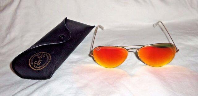f2f963b0284 Ray-Ban Orange Aviator Flash Lenses Gold Frame Sunglasses RB3025 112 69 58-