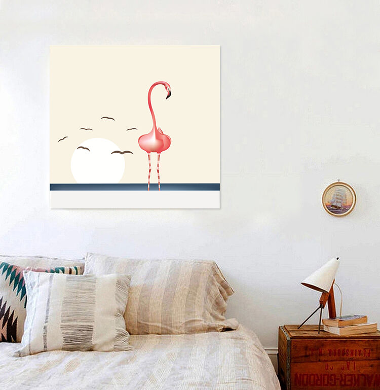 3D Flamingo Vogel 524 Fototapeten Wandbild BildTapete AJSTORE DE Lemon