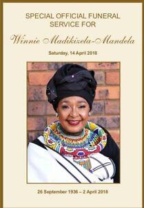 Winnie Mandela Funeral Memorial Program South Africa April 2018