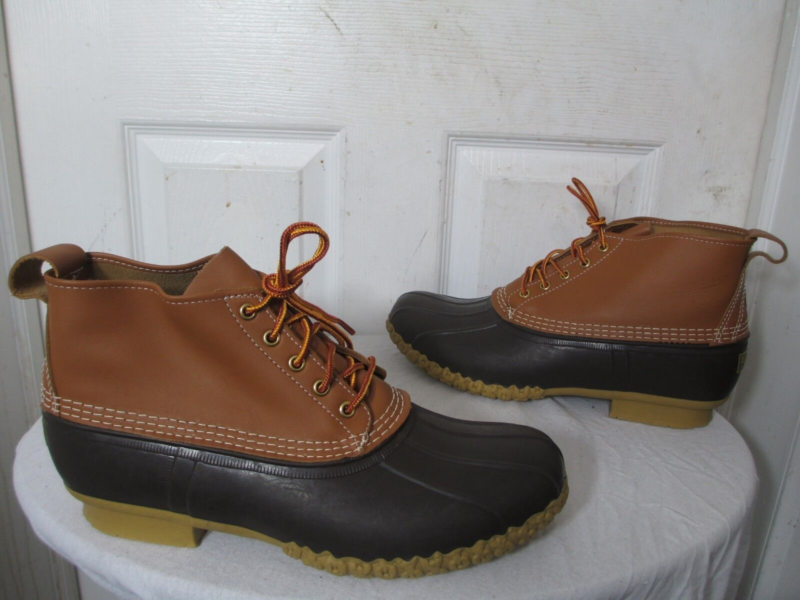 L.L. BEAN DUCK BOOTS SMALL BATCH LIMITED EDITION TAN BROWN MEN'S SIZE US 12 NEW