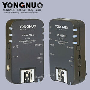 Yongnuo UPGRADE YN-622NII TTL Wireless Flash Trigger 2 Transceivers for Nikon