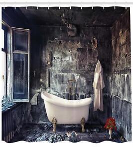 Badewanne Duschvorhang Im Badezimmer Viktorianischen Retro Stil
