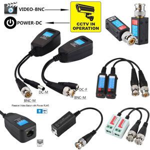 16 Pair CCTV Coax BNC Video Power Balun Transceiver to CAT5e 6 Surge Protection