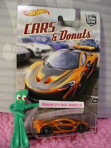 Hot Wheels Cars /& Donuts 1//5 McLaren P1 Mattel